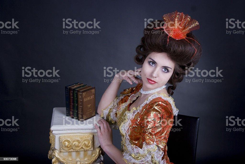 Elegant portret of a woman stock photo