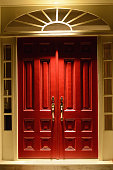 Elegant Red Double Estate Doors