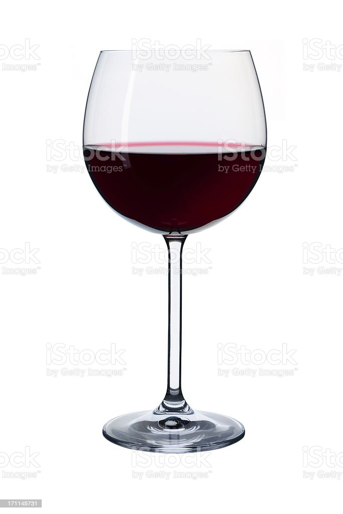 elegant red wine in a glass royalty-free stock photo