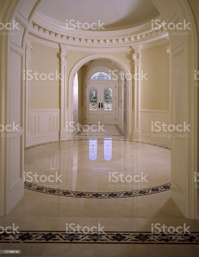 Elegant Residential Entryway Interior royalty-free stock photo