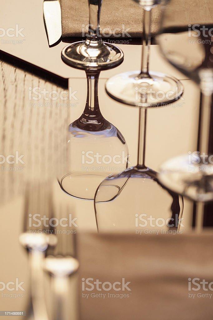 Elegant restaurant stock photo