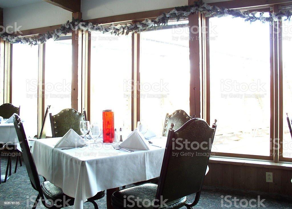 Elegant restaurant table waiting royalty-free stock photo