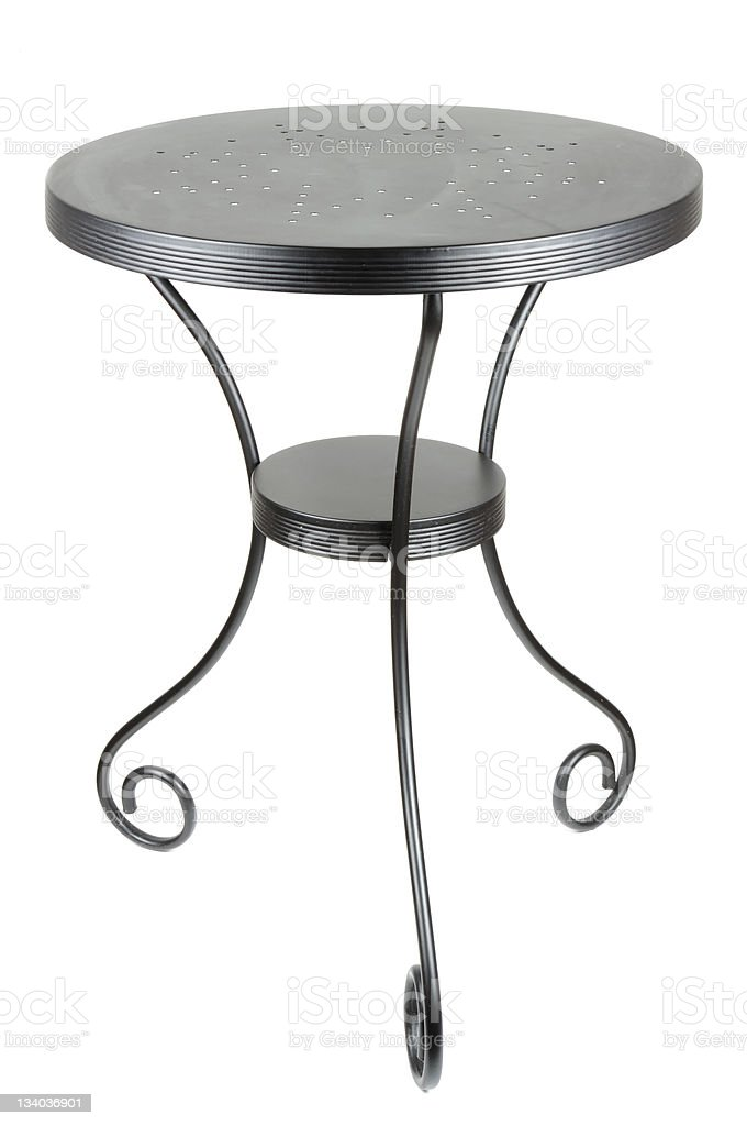 Elegant Round Black Table royalty-free stock photo