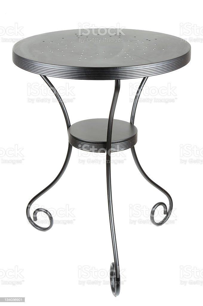 Elegant Round Black Table stock photo