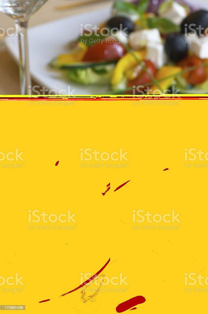 Elegant Seafood Soup stock photo