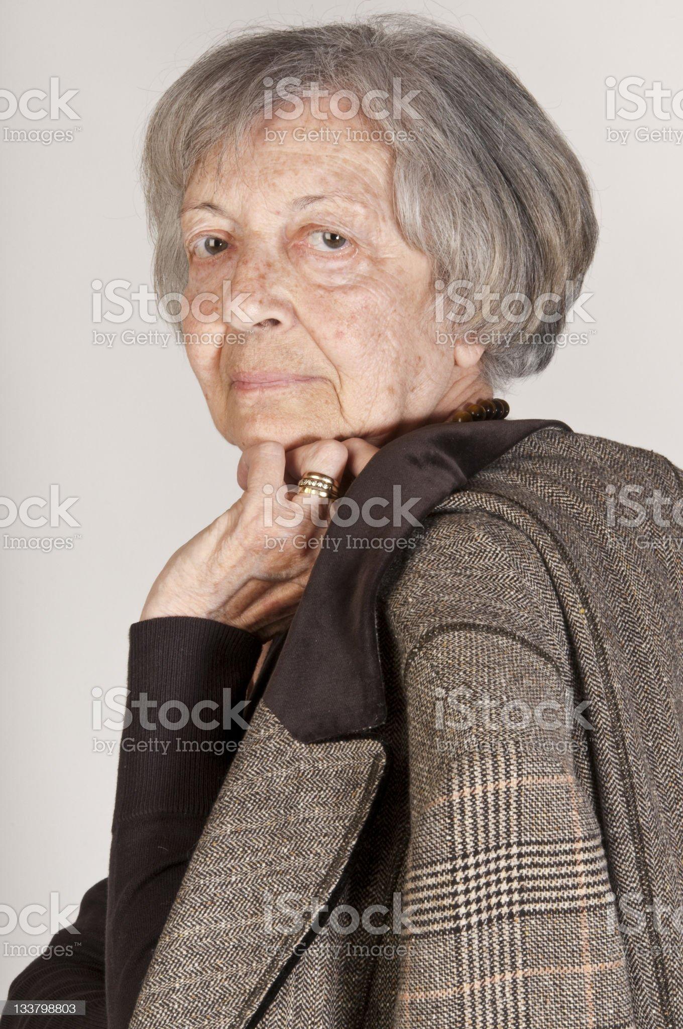 Elegant senior lady royalty-free stock photo