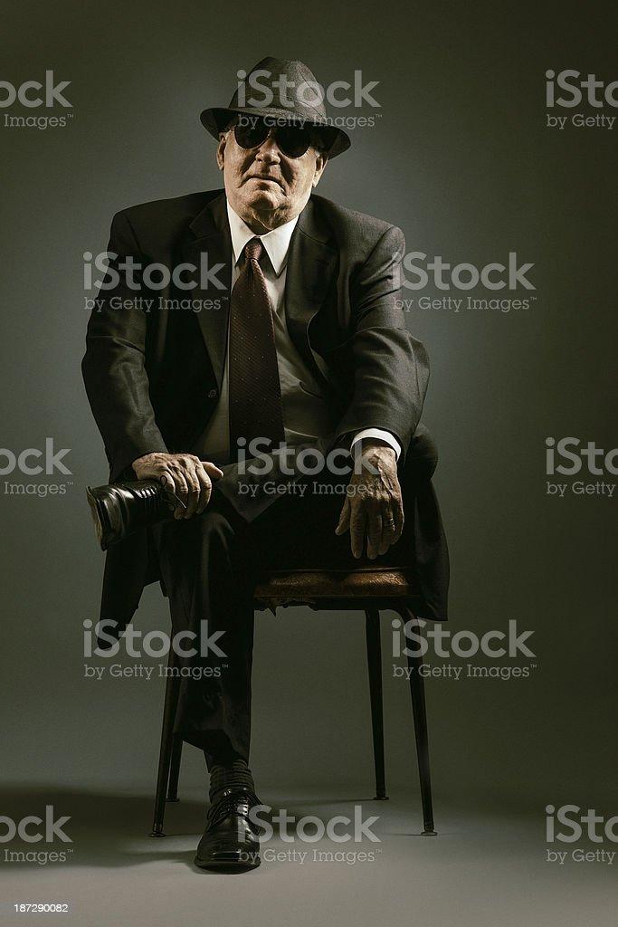 elegant senior seating stock photo