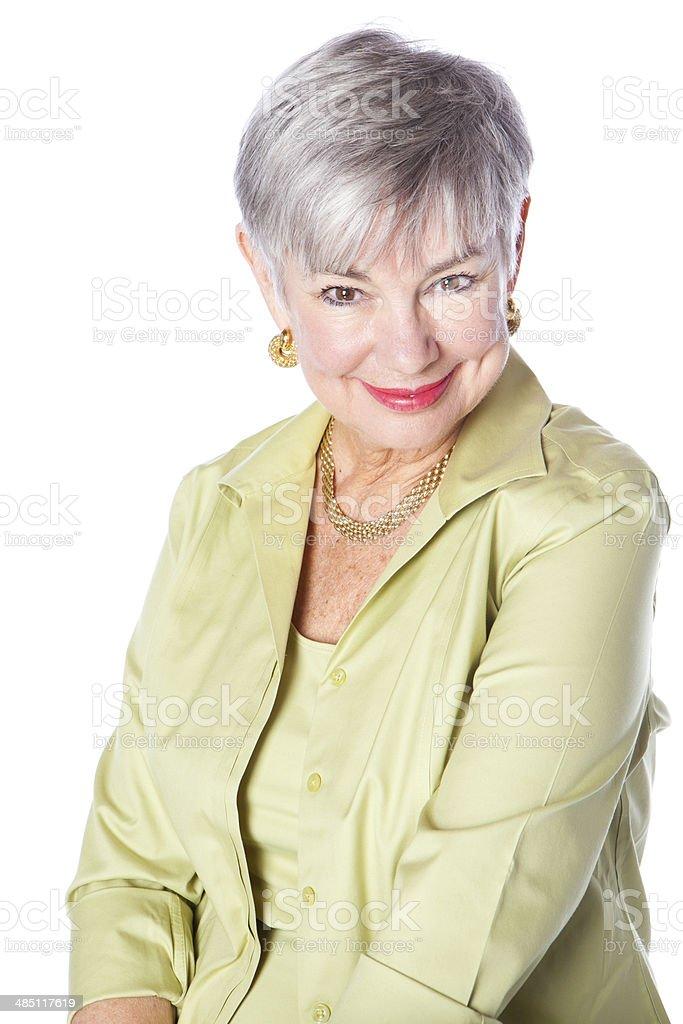 Elegant Senior Woman Smiling royalty-free stock photo