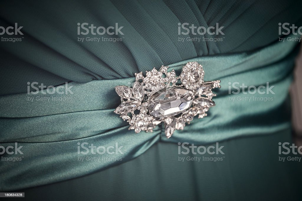 Elegant shining diamond brooch royalty-free stock photo