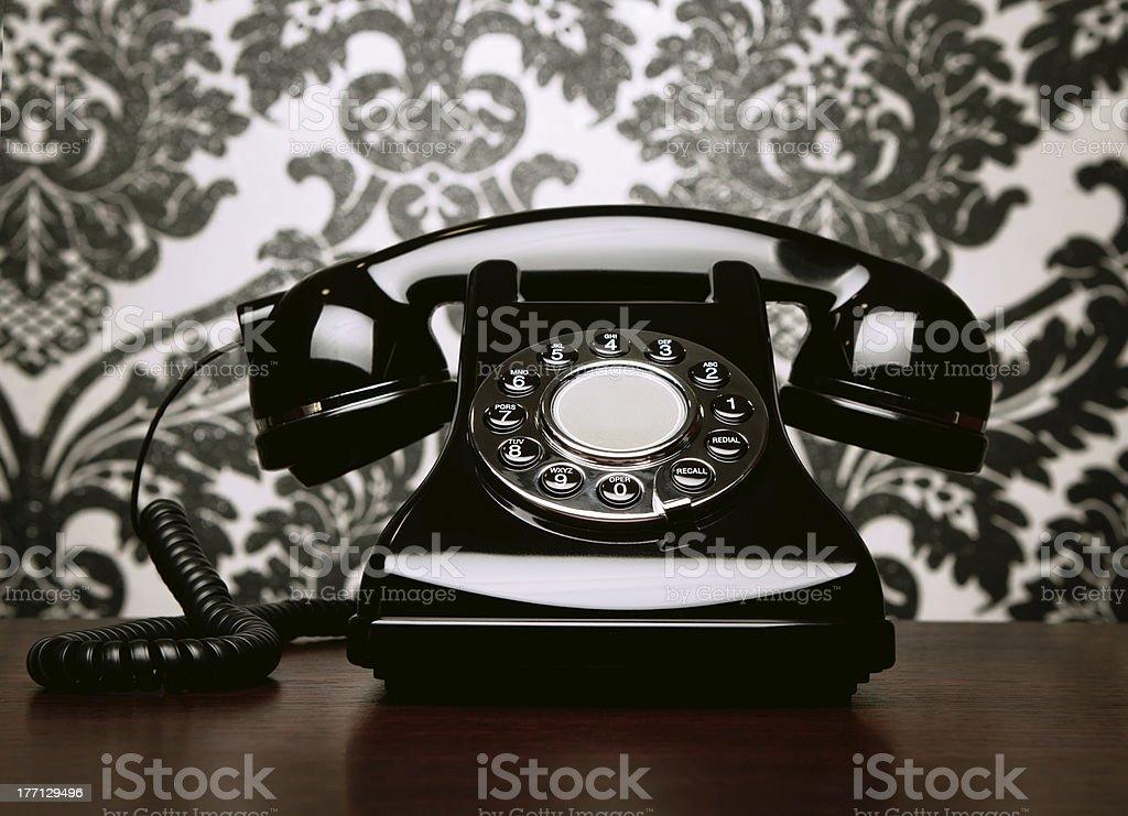 Elegant shiny telephone royalty-free stock photo