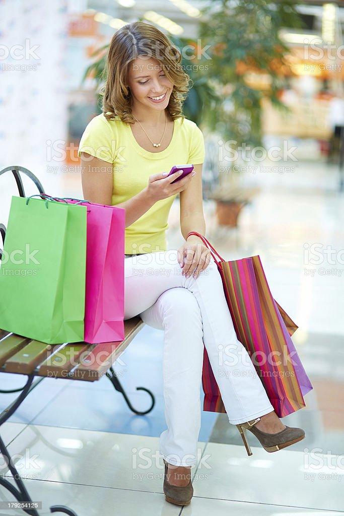 Elegant shopper royalty-free stock photo