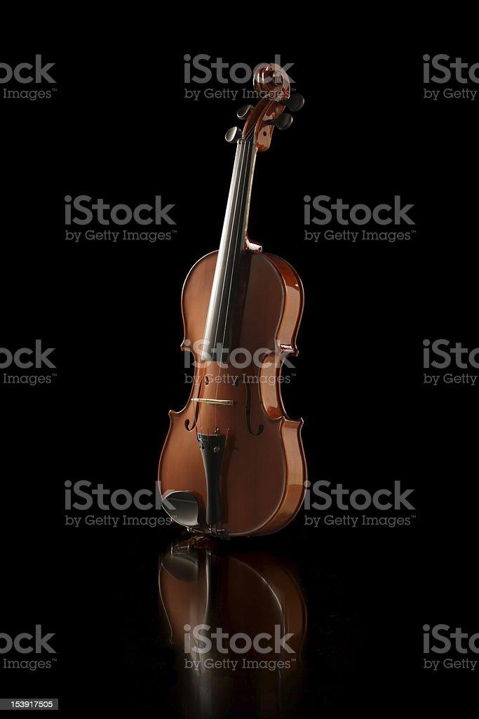 Élégant plan d'un violon photo libre de droits