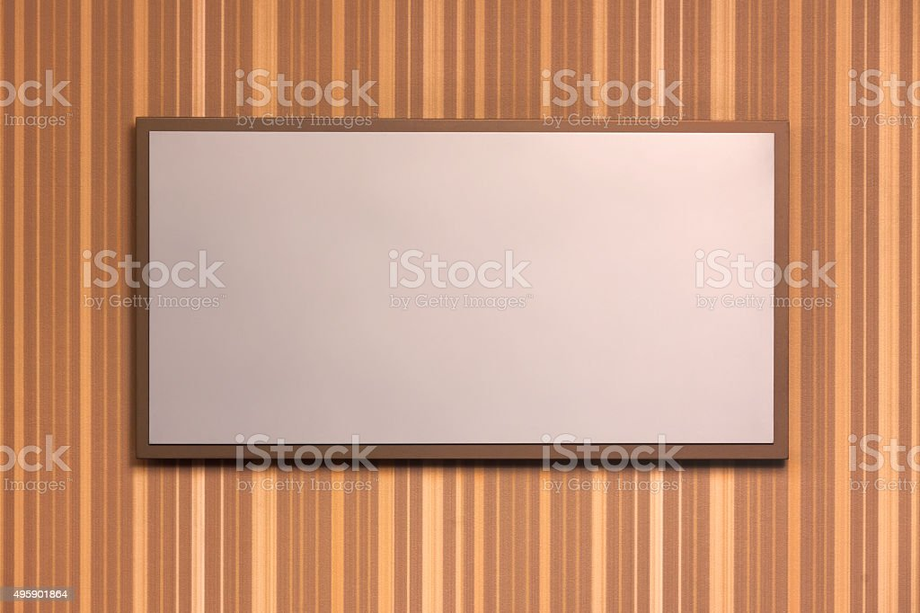 Elegant sign on a striped background stock photo