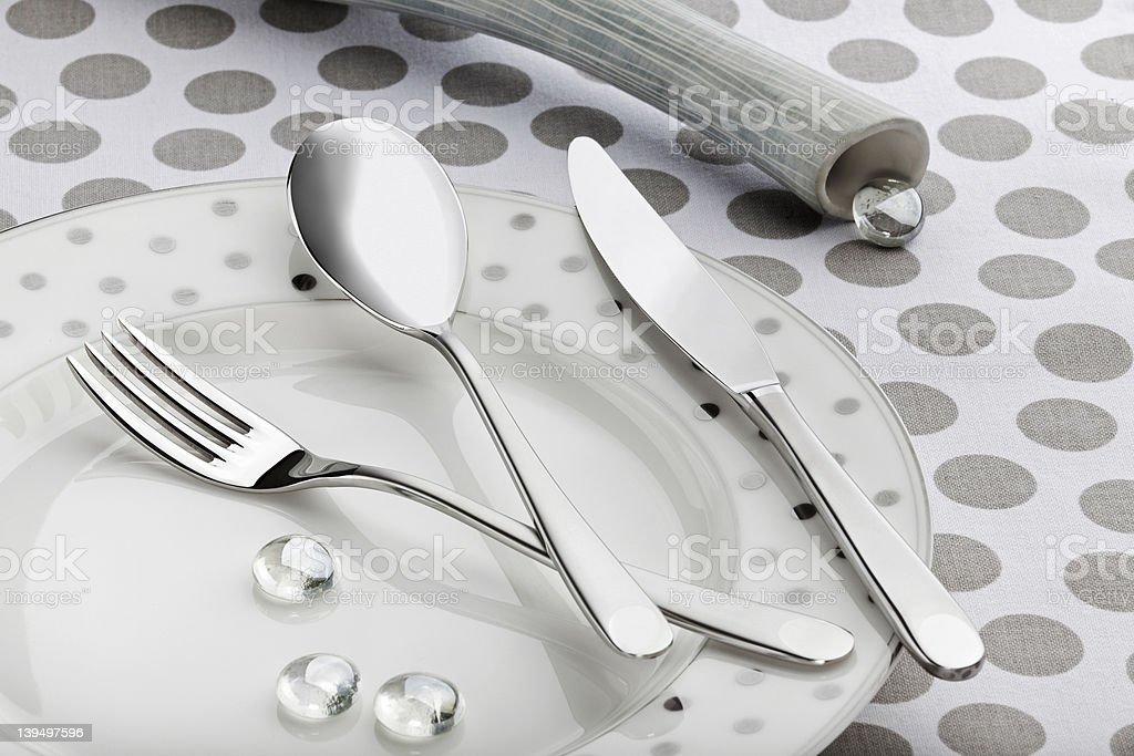 Elegant Silverware royalty-free stock photo