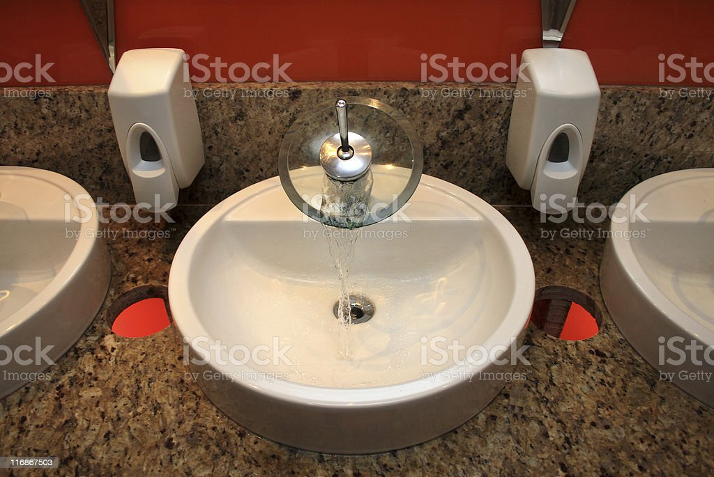 Elegant sink and tap royalty-free stock photo
