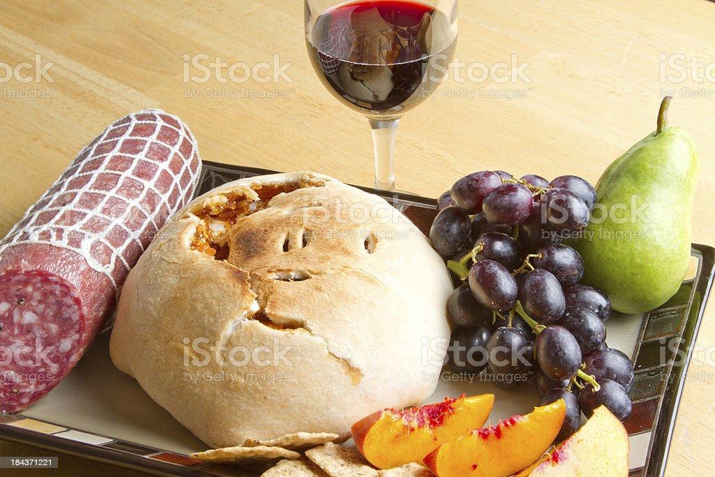 Elegant snack and wine royalty-free stock photo