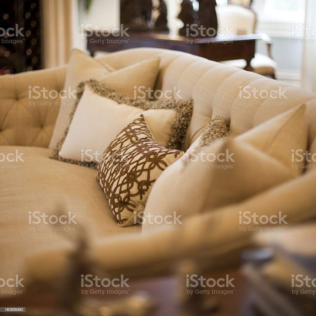 Elegant Sofa in a Wealthy Home royalty-free stock photo
