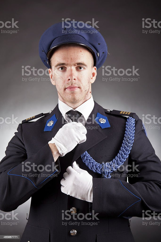 elegant soldier royalty-free stock photo