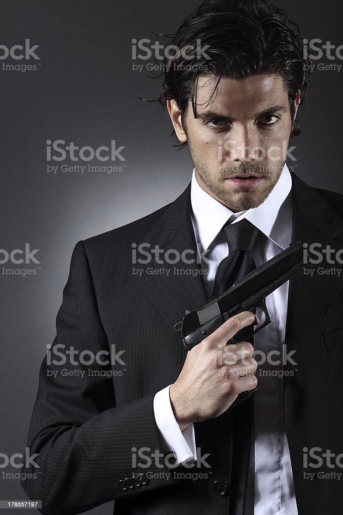 Elegant spy portrait royalty-free stock photo