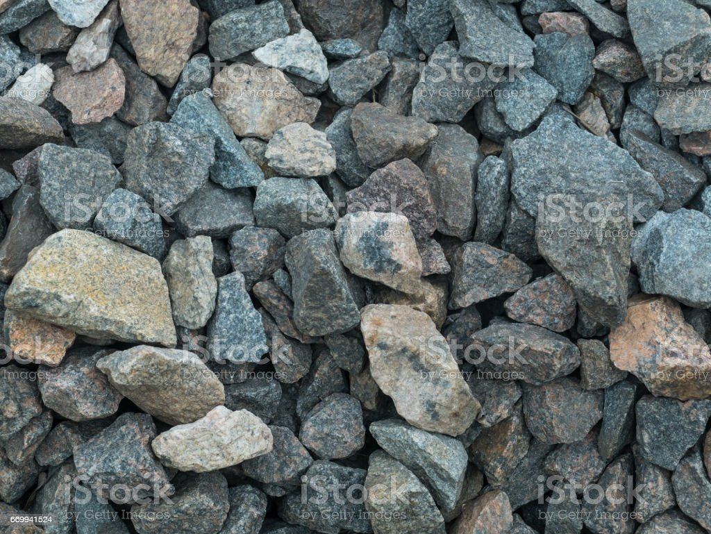 Elegant stone wall from small square parts stock photo