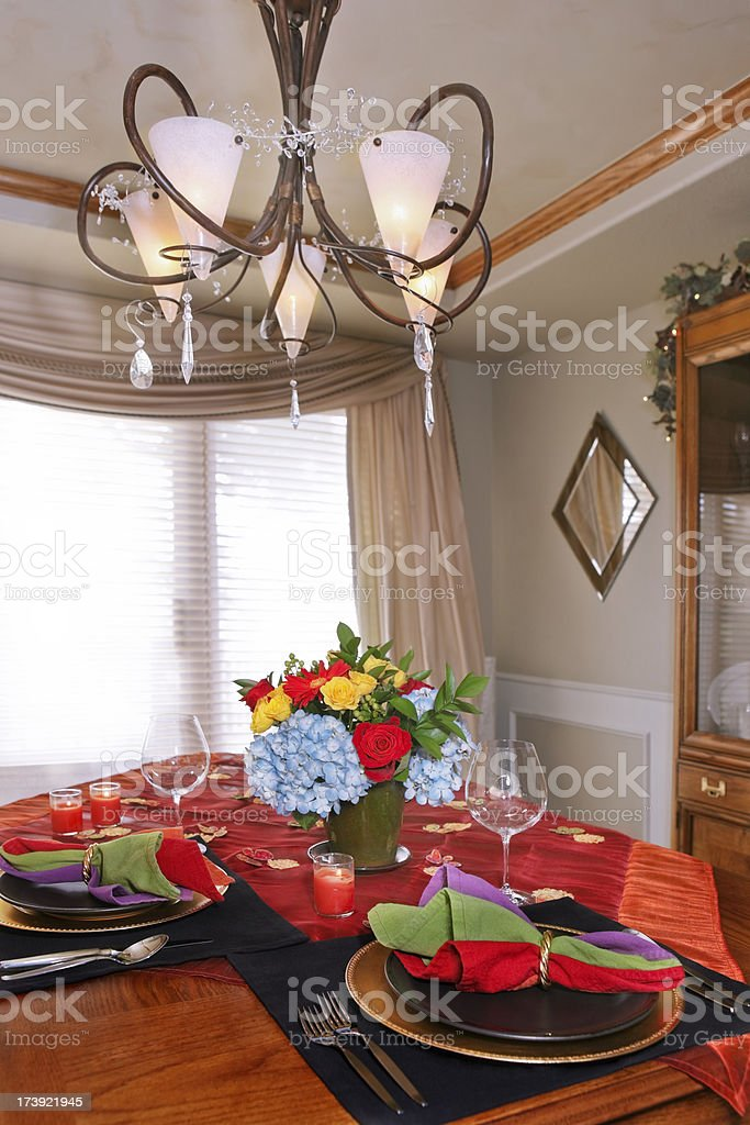 Elegant Summer Dining for Two royalty-free stock photo
