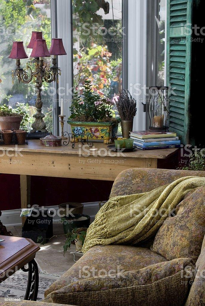 Elegant Sun Room royalty-free stock photo