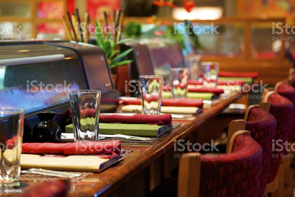 Elegant Sushi Bar royalty-free stock photo