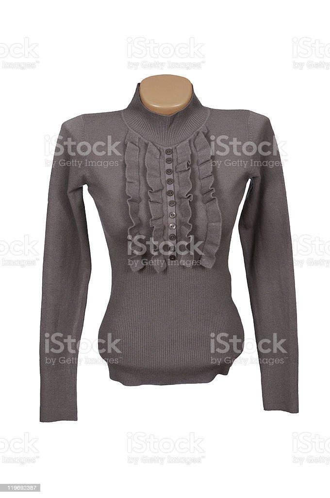 Elegant sweater on a white. stock photo