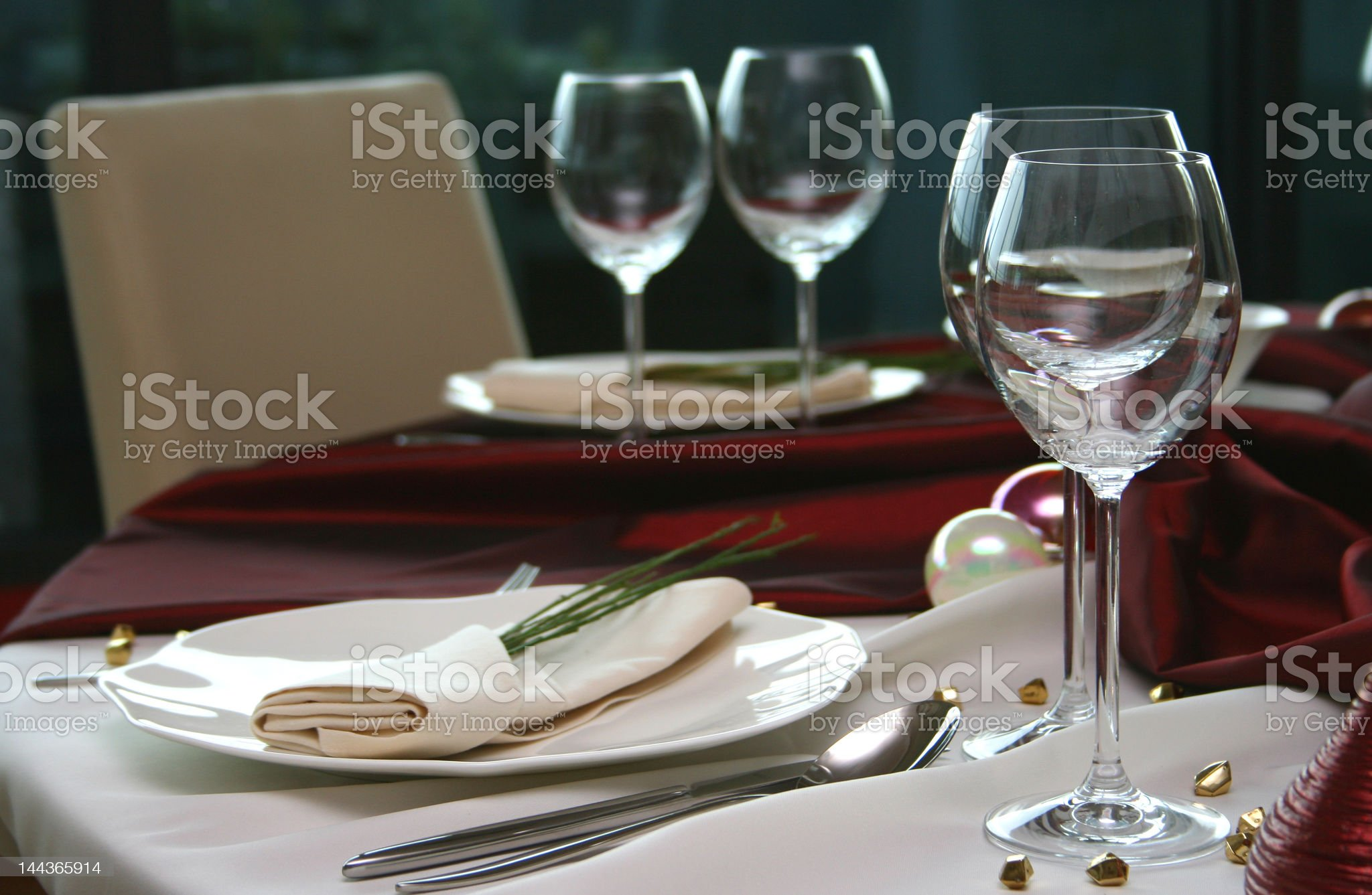 Elegant table in a restaurant royalty-free stock photo