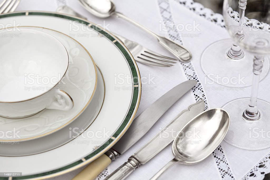 Elegant table stock photo