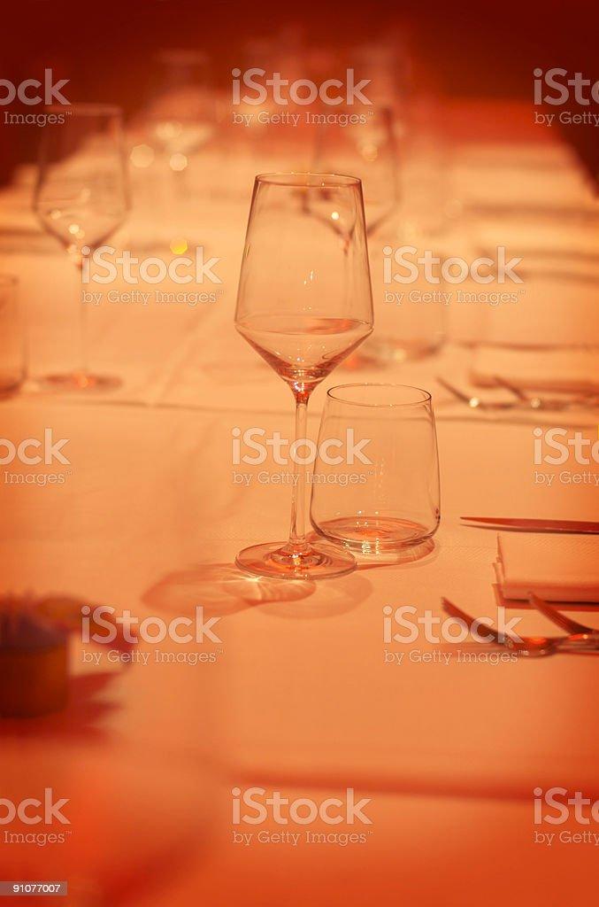 Elegant table royalty-free stock photo