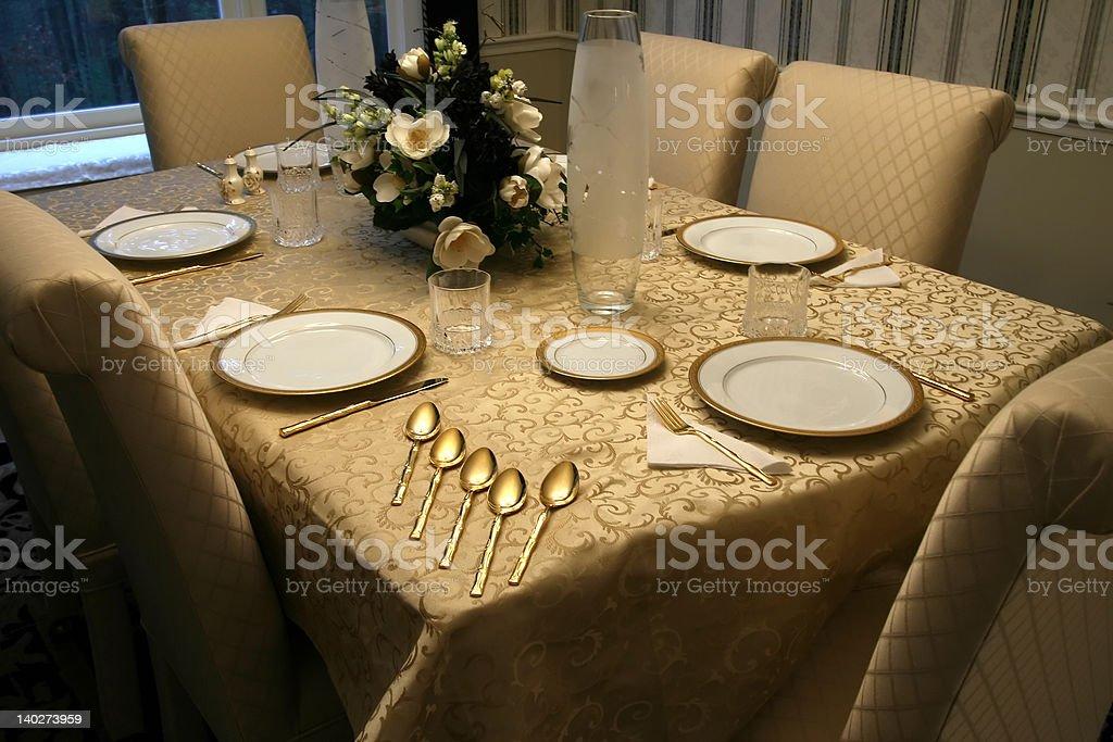 Elegant Table Setting royalty-free stock photo
