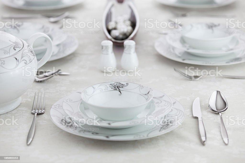 Elegant Table Setting Series royalty-free stock photo