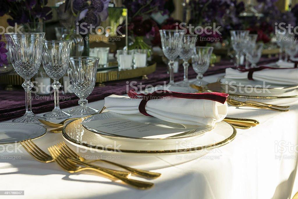 Elegant Table Setup stock photo