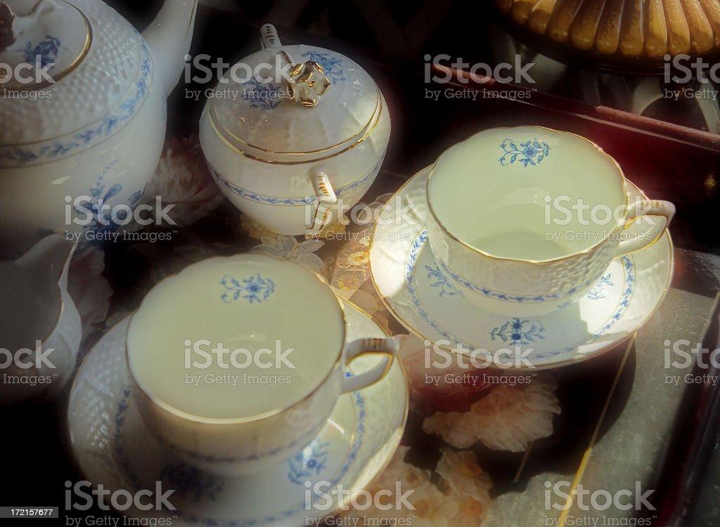 elegant tea set royalty-free stock photo