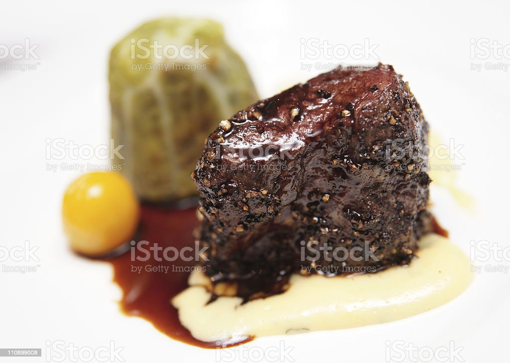 Elegant tenderloin steak royalty-free stock photo