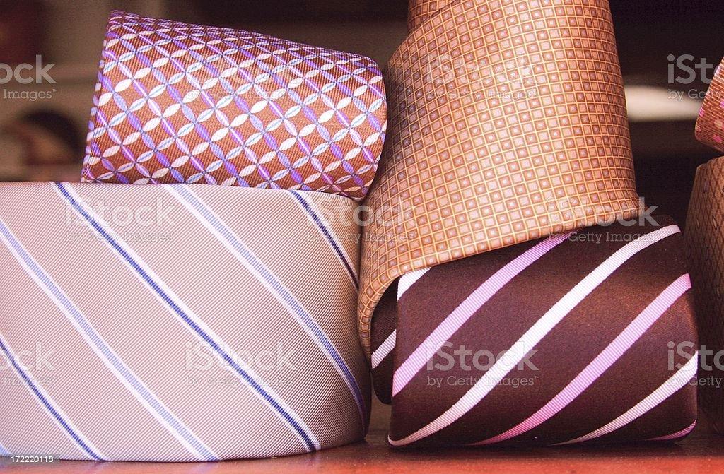 elegant ties royalty-free stock photo