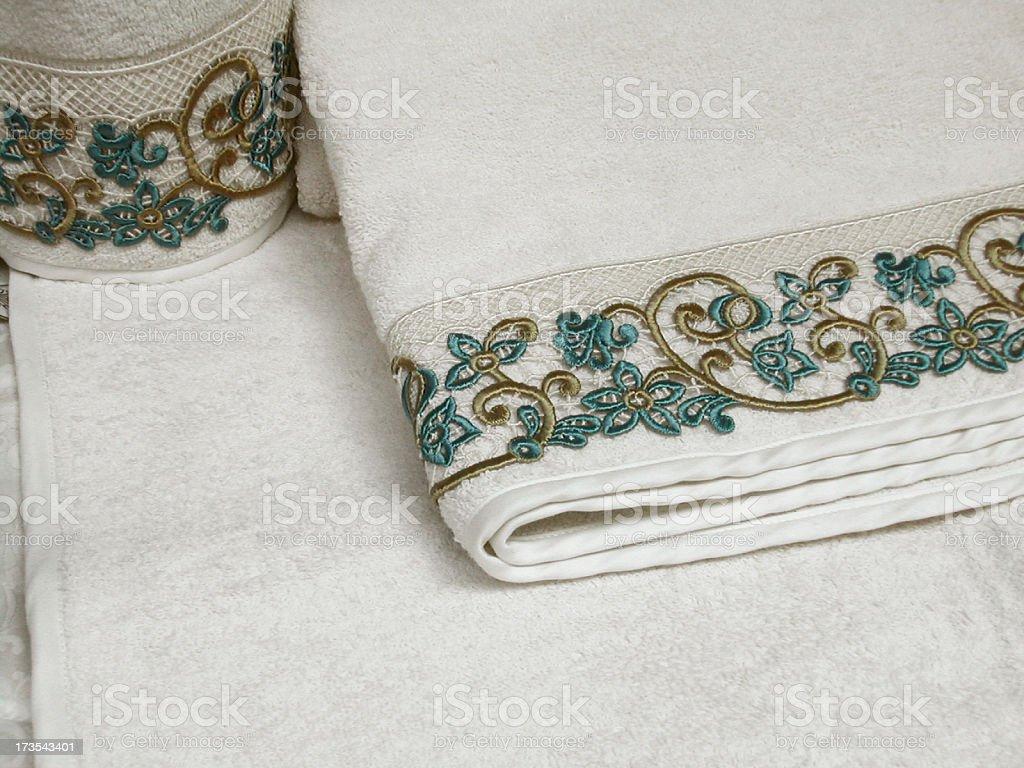 elegant towels stock photo
