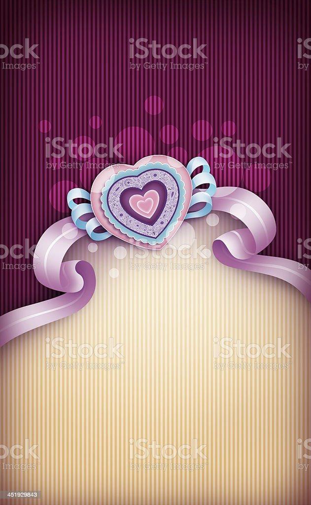 エレガントなバレンタインカード ロイヤリティフリーストックフォト