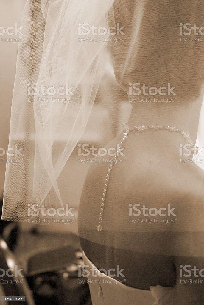 Elegant Veil royalty-free stock photo