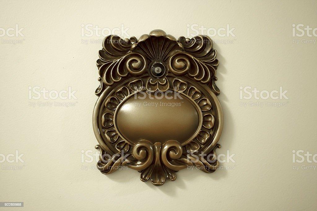 Elegant Victorian Peep Hole royalty-free stock photo