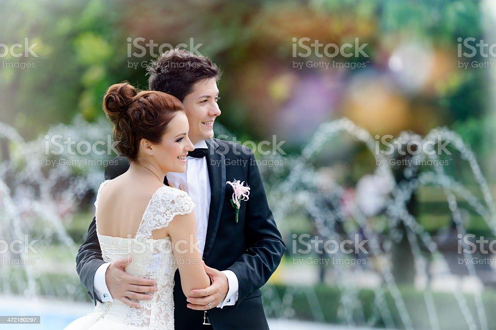 elegant wedding couple royalty-free stock photo