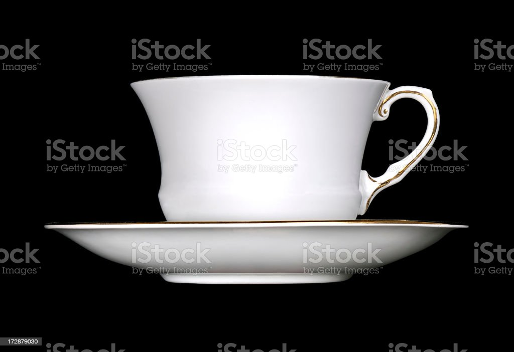 Elegant white cup and saucer royalty-free stock photo