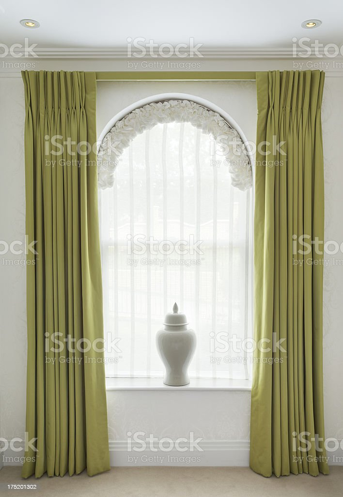 elegant window dressing stock photo