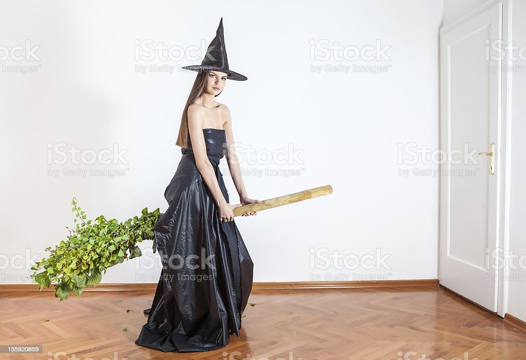 elegant witch royalty-free stock photo