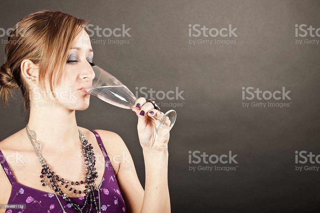 Elegant Woman Dringink Aperitif stock photo