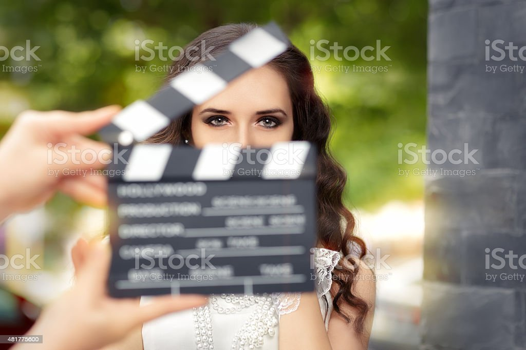 Elegant Woman Ready for a Shoot stock photo
