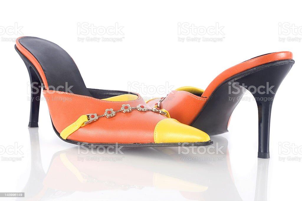 Elegant woman shoes royalty-free stock photo
