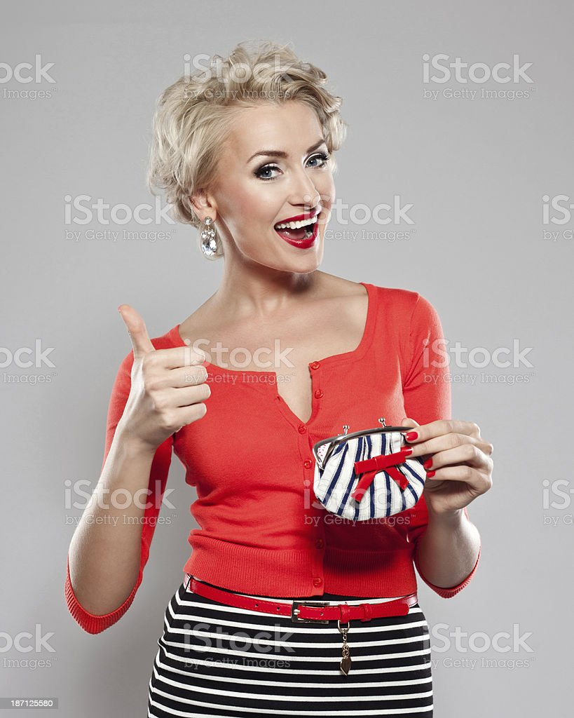 Elegant woman with wallet royalty-free stock photo