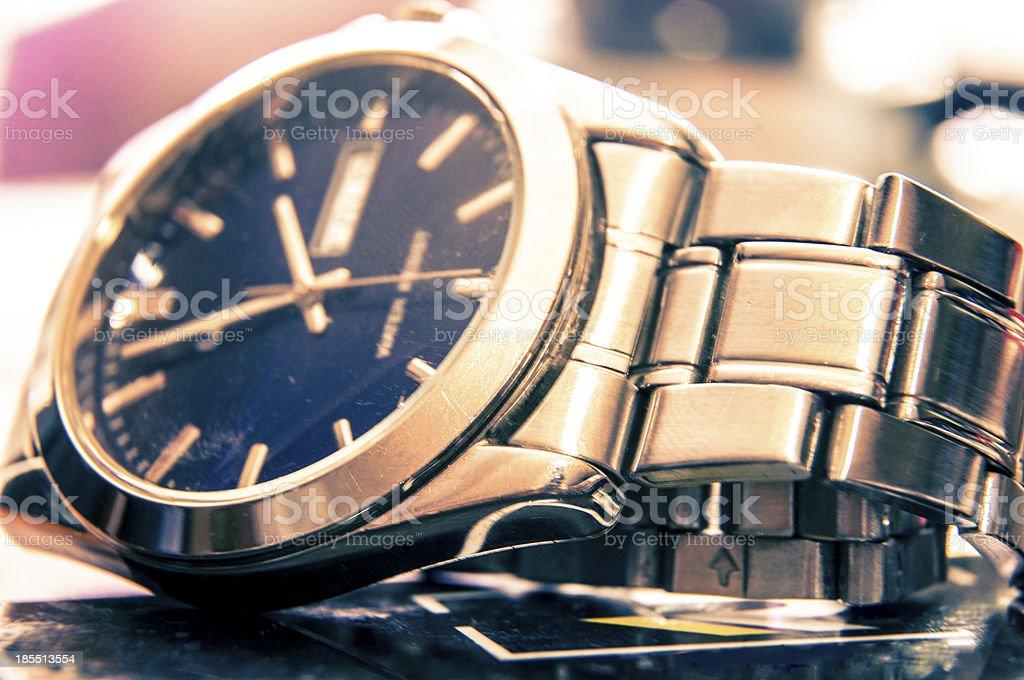 Elegant wristwatch royalty-free stock photo